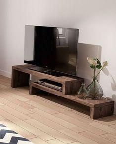 Diy home decor Tv Unit Furniture, Pallet Furniture, Tv Stand Decor, Diy Tv Stand, Tv Stand Designs, Tv Bench, Muebles Living, Living Room Tv, Mid Century Modern Furniture