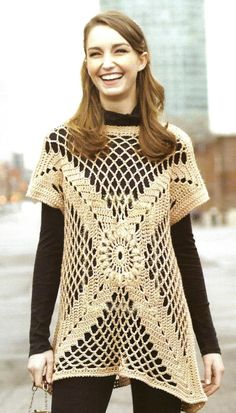 PDF Cute Womans pull over crocheted shirt by trendingetsystore