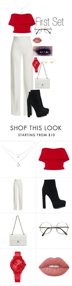 """""""Hi, guys. This is my first ever set. So please like and comment if you want to👍🏼👍🏼👍🏼#cute #fashion #mystyle"""" by raquelles ❤ liked on Polyvore featuring Reem Acra, Brandon Maxwell, Casadei, Chanel, Tommy Hilfiger, Lime Crime and Lord & Taylor"""
