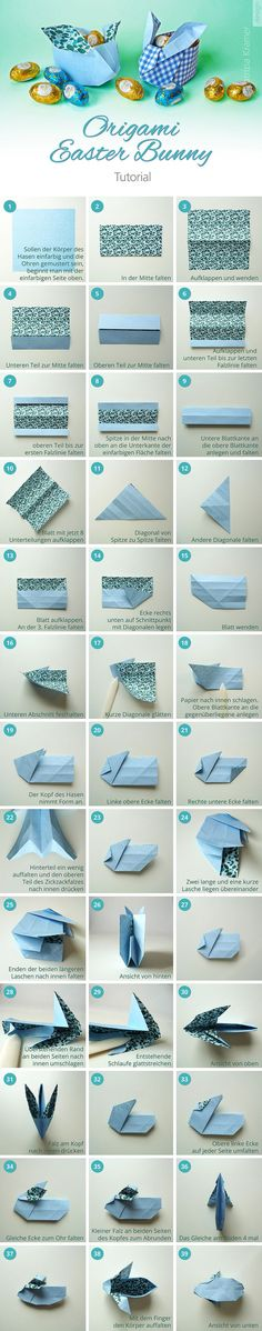 Lapin de Pâques en origami #origami  #paques #EasterBunny #easterdiy  #easter  https://www.pinterest.fr/pin/86272149095773471/sent/?sfo=1&sender=376965568718212394&invite_code=3a2e0e66e2a243cb812e125eb87cff3b