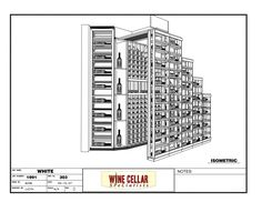 Custom Wine Cellars Chicago Under Stairs 3D Drawing. Get your FREE 3D wine cellar design at this page http://www.winecellarspec.com/free-3d-drawing/.