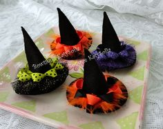 Cute Halloween Hair Bows Hey, I found this really awesome Etsy listing at http://www.etsy.com/listing/164691279/halloween-hair-bow-witch-hat-hair-clip
