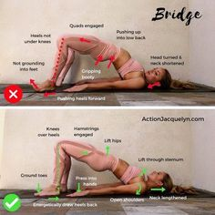 your glutes in Bridge Pose (Yoga) is so key to supporting the lift in your.Using your glutes in Bridge Pose (Yoga) is so key to supporting the lift in your. Fitness Workouts, Yoga Fitness, At Home Workouts, Health Fitness, Total Gym Workouts, Cardio Gym, Fitness Diet, Crossfit, Yoga Moves