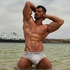 Instagram post by Sexyboys • Aug 1, 2019 at 12:30am UTC Mr Muscle, White Underwear, Hot Beach, Elegant Man, Daddy Bear, Isle Of Man, Handsome Boys, Bearded Men, Sexy Men