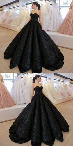 black sweetheart prom dresses, simple ball gown sequined evening gowns, unique a line floor length party dresses Modest black sweetheart prom dresses, simple by PrettyLady on Zibbet Sequin Evening Gowns, Women's Evening Dresses, Ball Dresses, Ball Gowns, Black Wedding Dresses, Formal Dresses For Women, Dress Formal, Black Quinceanera Dresses, Formal Prom