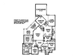 Plan HHF-6278 First Floor rotate and make foyer a play area! can see from family room and gate off hallways to bedrooms