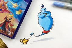 Une jeune artiste, très fan du robot Baymax (« Les Nouveaux Héros »), l'a mis en scène dans une série d'illustrations, déguisé… en d'autres personnages Disney.