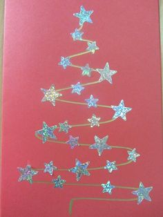 9 More Easy Homemade Christmas Cards with Step by Step Instructions – DIY Fan Diy Christmas Cards, Christmas Crafts For Kids, Christmas Activities, Christmas Projects, Kids Christmas, Handmade Christmas, Holiday Crafts, Christmas Decorations, Christmas Ornaments