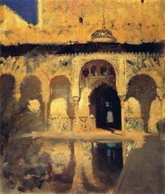 Alhambra, Patio de los Arrayanes (John Singer Sargent - 1879)
