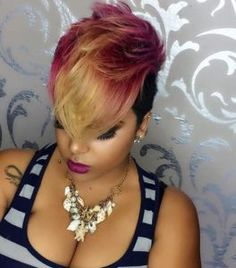 2016 Fall & Winter 2017 Hairstyles for Black and African American Women. Love it or hate it, this fall season is all about short hair, from crops to shaven styles to lobs and the return of the … Short Hair Cuts, Short Hair Styles, Natural Hair Styles, African Hairstyles, Girl Hairstyles, Black Hairstyles, Trendy Hairstyles, African American Short Hairstyles, Medium Hairstyles
