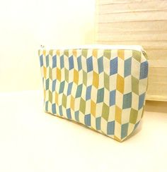 Zipper Pouch Fabric Pouch Cosmetic Bag by handjstarcreations, $14.00