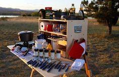DIY Idea: Make Your Own Portable Camp Kitchen | Man Made DIY | Crafts for Men | Keywords: camp, diy, woodworking, wood