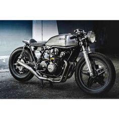 @thirteenandcompany's industrial 1981 Honda cb750 has a new owner. Congrats @asaavedra78 on the new sick ride! ✊✊ #thirteenandcompany #hondacb750 #cb750 #caferacer #caferacers #croig #bratbike #bratstyle #scrambler #custombuild #custombuilt...