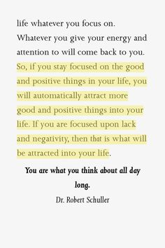 focus on what you want | and not on what you don't want