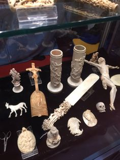 exceptional and eye catching top quality Eurpean carved ivory items - second half ' 800 - signed - call Danilo 0039 335 6815268