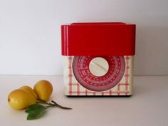 1950s Red and White Kitchen Scale  Made in France by cozycottagechic, $34.00