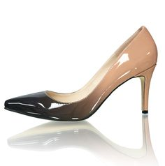 """Marc Defang Exclusive Ombre Patent Leather 3"""" Heels Pointy Toe Pumps"""