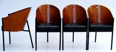 4 x original Café Costes chairs designed by Philipe Starck (1984) and manufactured by Aleph Driade