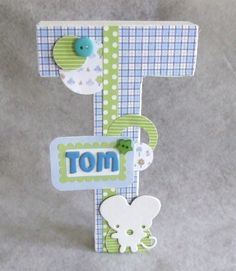 letra alterada para bebé / altered letter