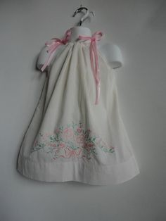 Toddler Girl Pillowcase Dress Upcycled Girls by PlanetPlayground, $21.00