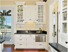 Frosty White French Villa   Crystal Cabinets