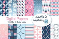 Ombre Digital Paper Patterns by Digital Work Graphic Shop on @creativemarket