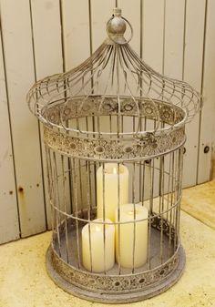 vintage birdcage large - $69