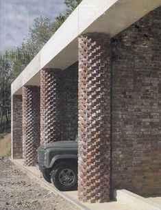 Stephen Taylor Architects' Hay Barn at Shatwell Farm Brick Design, Facade Design, Brick Architecture, Architecture Details, Samba, Pedestal, Farm Plans, Agricultural Buildings, Architectural Materials