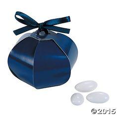 Navy Wedding Sphere Favor Boxes