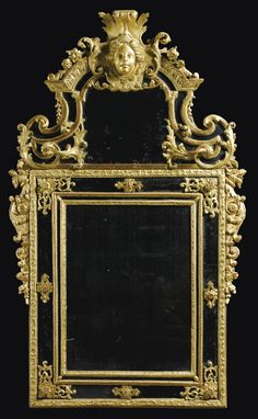 A CARVED GILTWOOD MIRROR, RÉGENCE, FIRST QUARTER 18TH CENTURY, Haut. 158 cm, Larg. 96 cm
