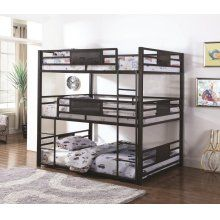 Shop Coaster Furniture Rogen Full Triple Bunk Bed with great price, The Classy Home Furniture has the best selection of Bunk Beds to choose from Bunk Beds Small Room, Safe Bunk Beds, Full Bunk Beds, Bunk Beds With Stairs, Kids Bunk Beds, Small Rooms, Loft Beds, Bed Rooms, Small Spaces