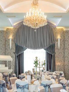 Rochestown Park Hotel, Cork Function room design by Wallpaper from Function Room, Park Hotel, Fabulous Fabrics, Valance Curtains, Cork, This Is Us, Hotels, Chandelier, Ceiling Lights