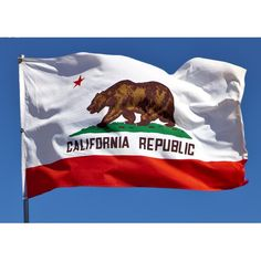 California Republic State Flag Durable All Weather Nylon Made in USA Mult Sizes