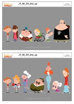 Personagens de Jamie's Got Tentacles! por Brendan Merien | THECAB - The Concept Art Blog