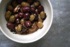 with the name Olivia I think you're obligated to LOVE olives! spicy marinated olives! mmmm!