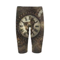 sold at @artsadd : #Vintage #Steampunk #Clocks Cropped #Leggings