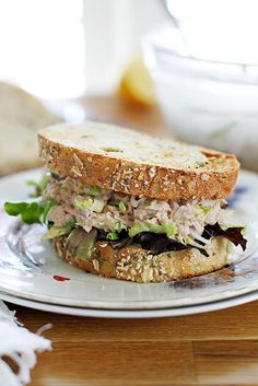 Easy Brussels Sprout Tuna Salad | girlversusdough.com @stephmwise