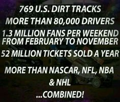 This is how much people love dirt track racing!