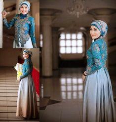 Model Kebaya Hijab Terbaru Kebaya Hijab, Kebaya Muslim, Kebaya Simple, Hijab Fashion, Fashion Dresses, Model Kebaya, Bridesmaid Dresses, Wedding Dresses, Simple Style
