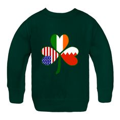 Lovely #shamrock with heart shaped flags of #Bahrain, Ireland, and the United States in the leaves. Fun design to celebrate your Irish ethnicity on St. Patrick's Day, as well as your American pride at all USA holidays PLUS share your Bahraini heritage, culture and ancestry. This design will work for many things. $29.99 http://ink.flagnation.com from your @Auntie Shoe