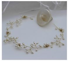 Gold or Silver finish Pearl Honeysuckle Bridal Halo Wedding Hair Vine accessory in Clothes, Shoes & Accessories, Wedding & Formal Occasion, Bridal Accessories |  £23. eBay