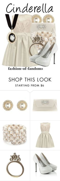 """""""Cinderella"""" by fofandoms ❤ liked on Polyvore featuring Charlotte Russe, Star by Julien Macdonald, MOOD, Elise Ryan, Disney Couture and Red Herring"""