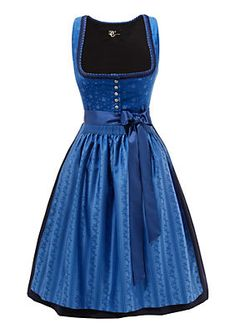 Turi Landhaus Dirndl midi mit Carré-Ausschnitt in royalblau im OTTO Online Shop