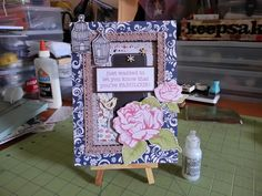 altered ikea frame, using papers by october afternoon, basic grey, american crafts and my minds eye.