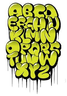 Hand drawn bubble style graffiti alphabet letters Art Print by kirart - X-Small Graffiti Letters Styles, Graffiti Lettering Alphabet, Typography Drawing, Graffiti Words, Graffiti Writing, Tattoo Lettering Fonts, Graffiti Murals, Street Art Graffiti, Grafitti Letters