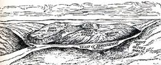 This shows a drawing (map) of the mountains of Jerusalem. Notice where Mt. Zion is (site of Solomon's Temple) and then where Mt. Moriah is (site of Dome of the Rock & Fort Antonia)