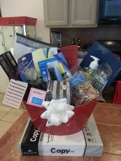 New Business Office Gift Basket