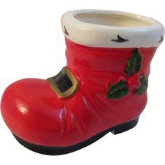 Lefton China Santa Boot for Christmas