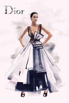 Ilustración, Moda en Tinta