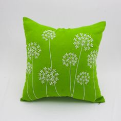 Queen Ann Pillow Cover Green Linen White Queen Ann